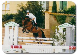 Cavalier et coach saut d'obstacles Voiron